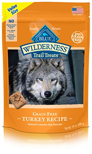 Best of – BLUE Wilderness Trail Treats Grain-Free Value Size Turkey Biscuits Dog Treats 24-oz – FREE SHIPPPING