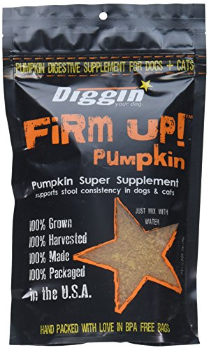 Effective – Diggin' Your Dog Firm Up Pumpkin Super Supplement for Digestive Tract Health for Dogs, 4-Ounce – FREE SHIPPING