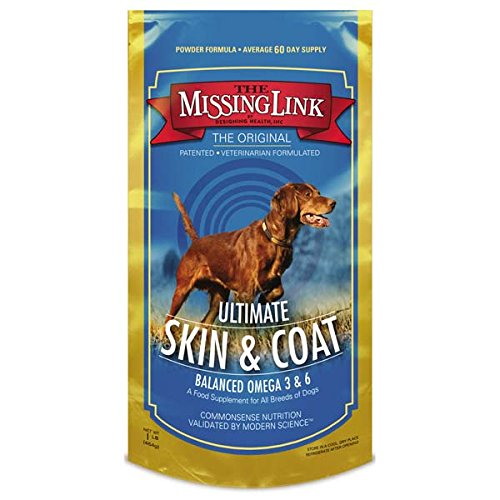 Effective – The Missing Link – Original All Natural Superfood Dog Supplement- Balanced Omega 3 & 6 to support Healthy Skin & Coat – Skin & Coat Formula – 1 lb. – FREE SHIPPING
