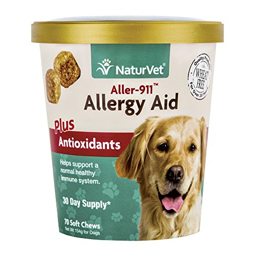 Best of – NaturVet Aller-911 Allergy Aid Supplement, Skin & Respiratory Health Plus Antioxidants, Support a Healthy Immune System for Your Dog, Made by – FREE SHIPPING