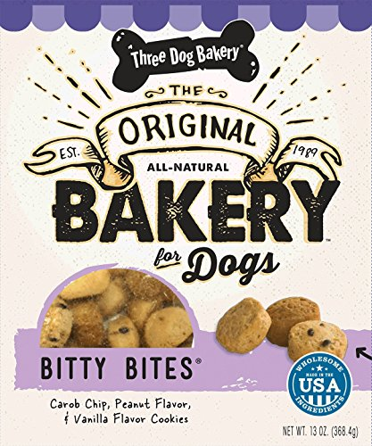 Best of – Three Dog Bakery Bitty Bites, Baked Dog Treats, Assorted Flavors, 13 ounces – FREE SHIPPPING