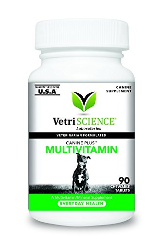 Best of – VetriScience Laboratories Canine Plus MultiVitamin for Dogs, 90 Chewable Tablets – FREE SHIPPING