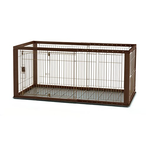 Best of – Richell Expandable Pet Crate with Floor Tray, Medium, Dark Brown – FREE SHIPPING