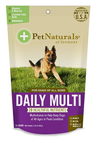Best of – Pet Naturals of Vermont – Daily Multi for Dogs, Multivitamin Formula, 30 Bite-Sized Chews – FREE SHIPPING