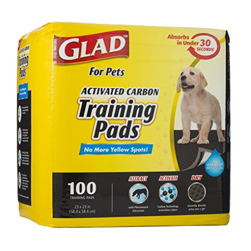 Best of – Glad for Pets Activated Carbon Dog Pee Pads, 100 Count | Best Puppy Pads For Absorbing Odor and Urine – FREE SHIPPING