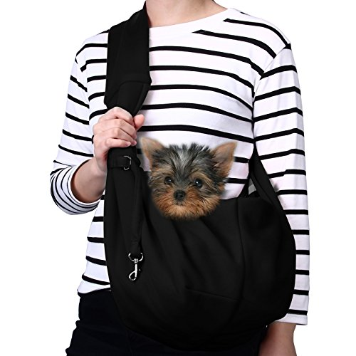 Best of – TOMKAS Small Dog Cat Carrier Sling Hands-Free Pet Puppy Outdoor Travel Bag Tote Reversible (Black) – FREE SHIPPING