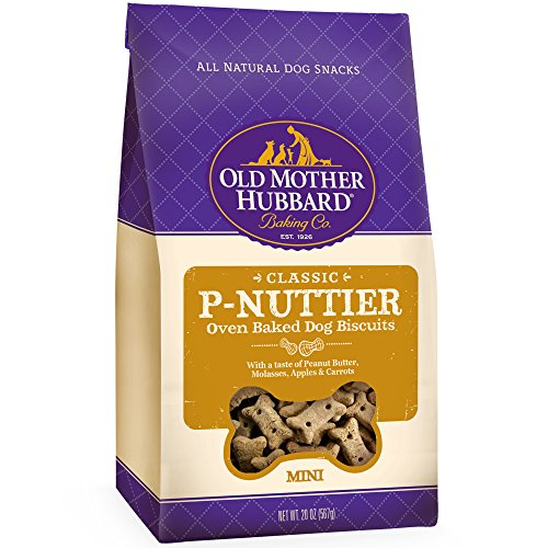 Best of – Old Mother Hubbard Classic Crunchy Natural Dog Treats, P-Nuttier Mini Biscuits, 20-Ounce Bag – FREE SHIPPPING