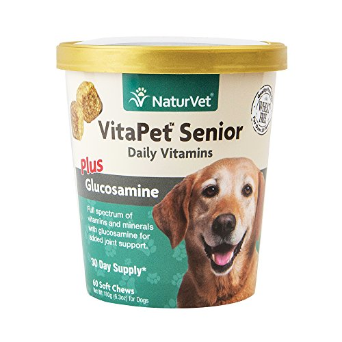 Best of – NaturVet VitaPet Senior Daily Vitamins Plus Glucosamine for Dogs, 60 ct Soft Chews, Made in USA – FREE SHIPPING