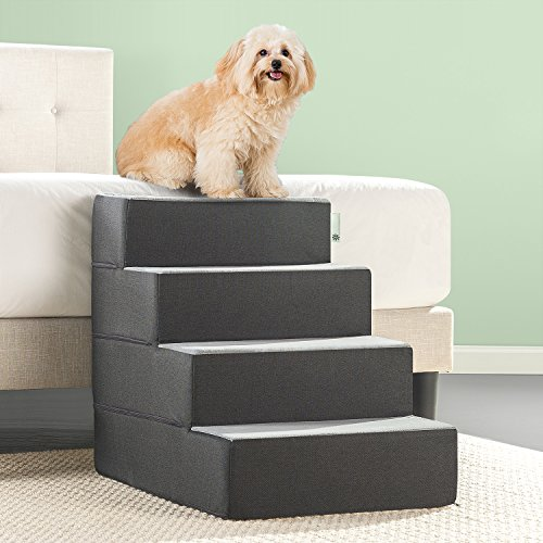 Zinus 4 Step Easy Pet Stairs/Pet Ramp/Pet Ladder/Grey, Extra Large – FREE SHIPPING