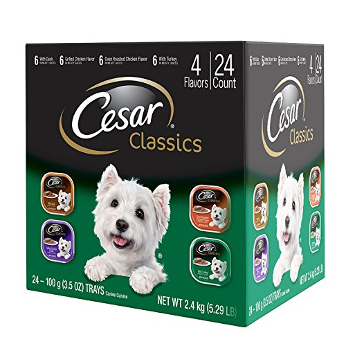 Best of – Cesar CLASSICS Poultry Variety Pack Wet Dog Food Trays 3.5 Ounces (Pack of 24) – FREE SHIPPPING