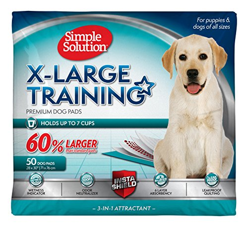 Best of – Simple Solution Extra Large Dog Training and Puppy Pads, Extra Large – 50-Count – FREE SHIPPING
