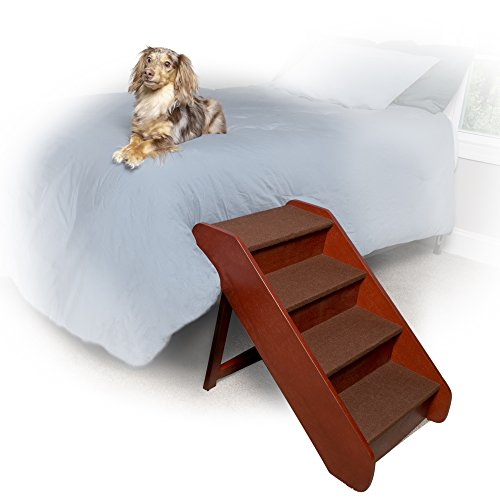 PetSafe Solvit PupSTEP Wood Pet Stairs, Foldable Steps for Dogs and Cats, Best for Small to Medium Pets – FREE SHIPPING