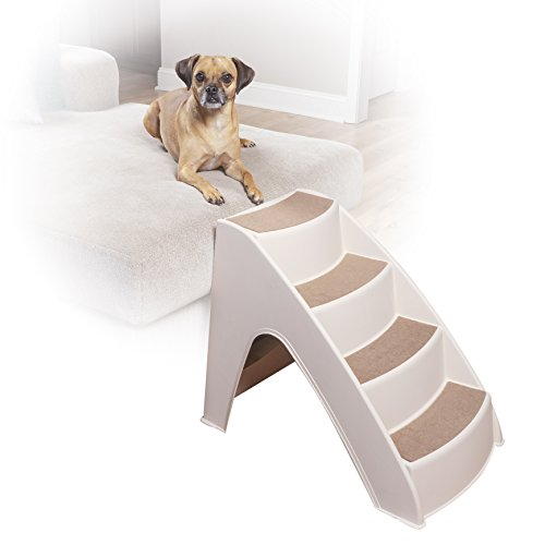 PetSafe Solvit PupSTEP Lite Pet Stairs, Steps for Dogs and Cats, Best for Small to Medium Pets, Non-Fold Design – FREE SHIPPING