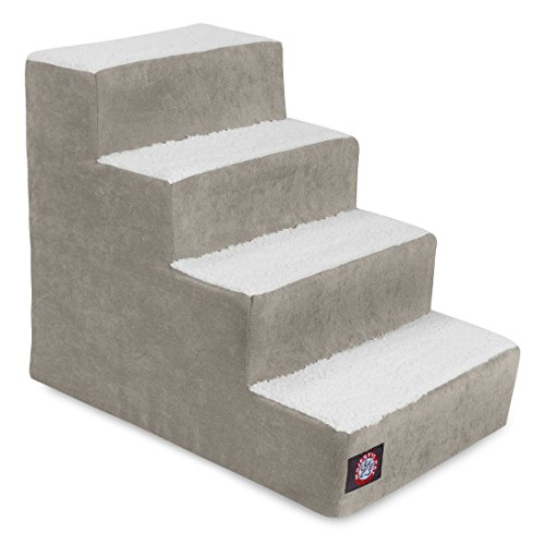 4 Step Portable Pet Stairs By Majestic Pet Products Villa Vintage Steps for Cats and Dogs Grey – FREE SHIPPING