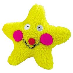 Zanies Smiling Star Dog Toys, Yellow Star, 7.5″
