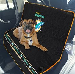 NFL CAR SEAT COVER – MIAMI DOLPHINS Waterproof, Non-slip BEST Football LICENSED PET SEAT cover for DOGS & CATS.