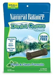 Natural Balance Dental Chews Dog Treats, Fresh & Clean Formula, Grain Free, For Small Dogs, 13-Ounce