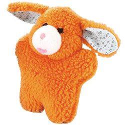 Zanies Cuddly Berber Baby Bunny Dog Toys, Orange