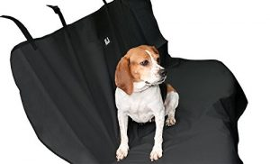 Animal Planet Water Resistant Bench Car Seat Cover for Pets, Black