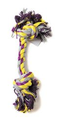 Adog Dog Rope Toy, 12-Inch, Purple/Yellow