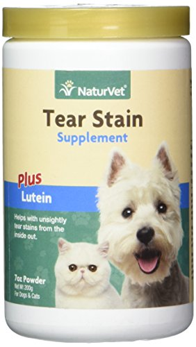 Garmon Corp Tear Stain Remover for Dogs and Cats with Lutein, Eye Stain Supplement, Keep Fur Clean with Our Tear Stain Supplement Powder from NaturVet