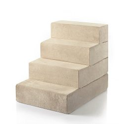 Zinus 4-Step Comfort Pet Stairs/Pet Ramp/Pet Ladder, Large