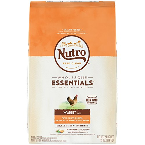 Nutro WHOLESOME ESSENTIALS Adult Farm-Raised Chicken, Brown Rice & Sweet Potato Recipe 15 Pounds