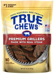 True Chews Premium Grillers Dog Treats, Made with Real Steak, 10 oz