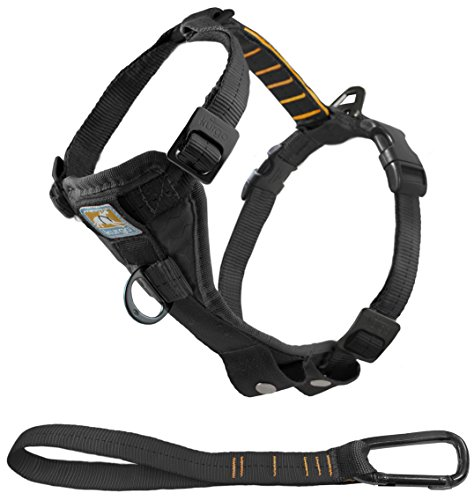 Under $25 Sale! – Kurgo Tru-Fit No Pull Dog Harness and Easy Dog Walking Harness with Pet Seatbelt Tether for Car, Black, Large