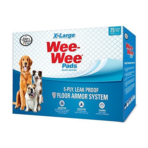 Best of – Four Paws Wee-Wee Dog Training Pads, X-Large, 75 Pack – FREE SHIPPING