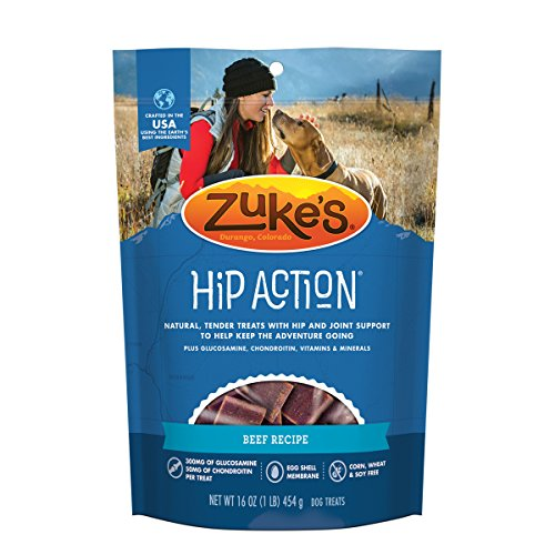 Best of – Zuke's Hip Action Beef Recipe Dog Treats – 16 oz. Pouch (package may vary) – FREE SHIPPPING