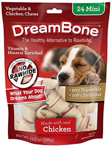 Best of – DreamBone Vegetable & Chicken Dog Chews, Rawhide Free, Mini, 24-Count – FREE SHIPPPING