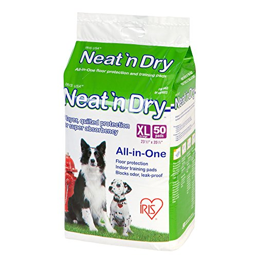 Best of – IRIS Neat 'n Dry Premium Pet Training Pads, Extra Large, 23.5″ x 35.5″, 50 Count – FREE SHIPPING