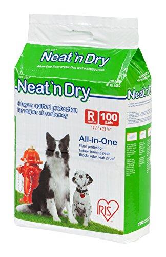 Best of – IRIS Neat 'n Dry Premium Pet Training Pads, Regular, 17.5″ x 23.5″, 100 Count – FREE SHIPPING