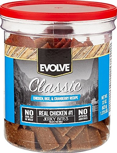Best of – Evolve Classic Chicken, Rice & Cranberry Recipe Dog Treats, 22-Ounce Jar – FREE SHIPPPING