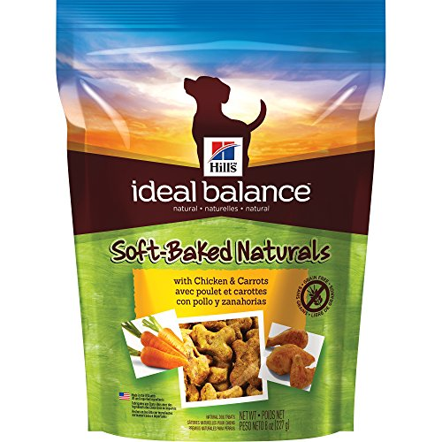Best of – Hill's Ideal Balance Natural Dog Treats, Soft-Baked Naturals with Chicken & Carrots Soft Dog Treats, Healthy Dog Treats, 8 oz Bag – FREE SHIPPPING