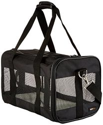 AmazonBasics Black Soft-Sided Pet Carrier – Medium