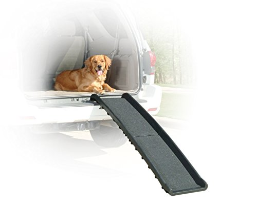 Solvit PetSafe UltraLite Bi-Fold Pet Ramp, 62 in, Portable Lightweight Dog and Cat Ramp, Great for Cars, Trucks and SUVs