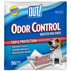 OUT! Odor Control Quilted Dog Pads, 21 x 21, 50 ct