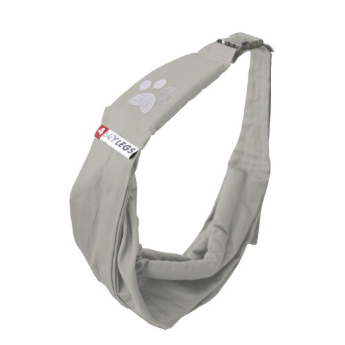 4 Lazy Legs Adjustable Pet Sling Carrier, Carrier for Dog, Sand Grey