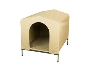 Heininger 3097 PortablePET X-Large Khaki HoundHouse Kennel and Shelter