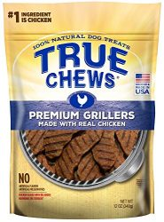 True Chews Premium Grillers Dog Treats, Made with Real Chicken, 12 oz