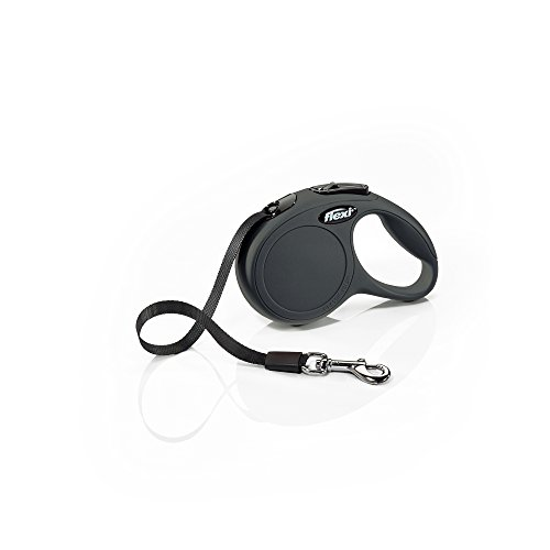 Flexi Classic Tape Leash, Extra Small, 10 ft, Black
