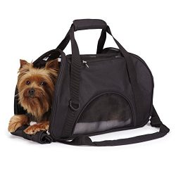 East Side Collection On-the-Go Pet Carriers — Practical and Fashionable Carriers for Small Dogs and Cats, Black