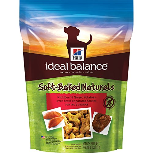 Hill's Ideal Balance Grain Free Dog Treats, Soft-Baked Naturals with Beef & Sweet Potatoes Soft Dog Treats, Healthy Dog Treats, 8 oz Bag
