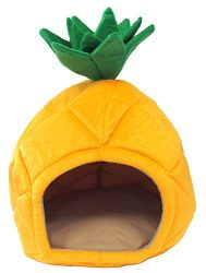 YML Pineapple Pet Bed House, Medium, Yellow