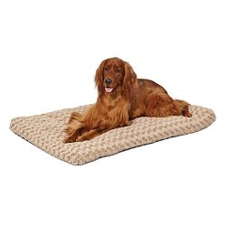 MidWest Homes for Pets Plush Dog Bed | Ombré Swirl Dog Bed & Cat Bed | Mocha 40L x 27W x 2.5H – Inches for Large Dog Breeds