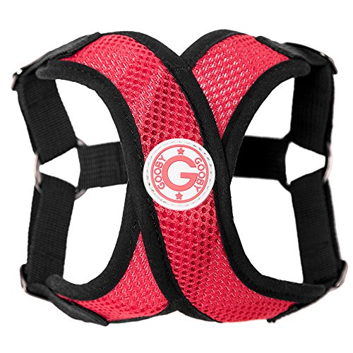Gooby Choke Free Step-In Comfort X Dog Harness, Large, Red