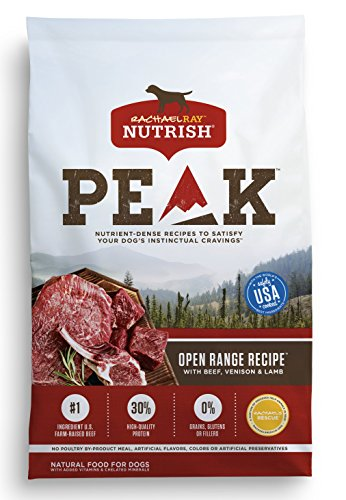 Rachael Ray Nutrish PEAK Natural Grain Free Dry Dog Food, Open Range with Beef, Venison & Lamb, 12 lbs