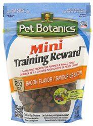Pet Botanics Training Rewards Mini Treats for Dogs, Bacon, 4 oz.